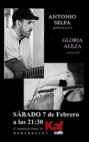 Antonio Selfa concierto Kaf Café