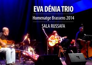 Eva Dénia Trio Homenatge Brassens