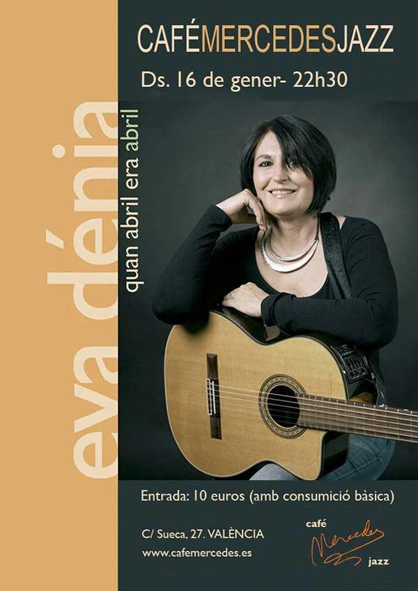 Eva Dénia concert Café Mercedes Jazz
