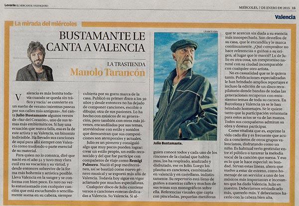 Reseñas prensa Julio Bustamante