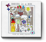 Babies in a box - Kids at rare places