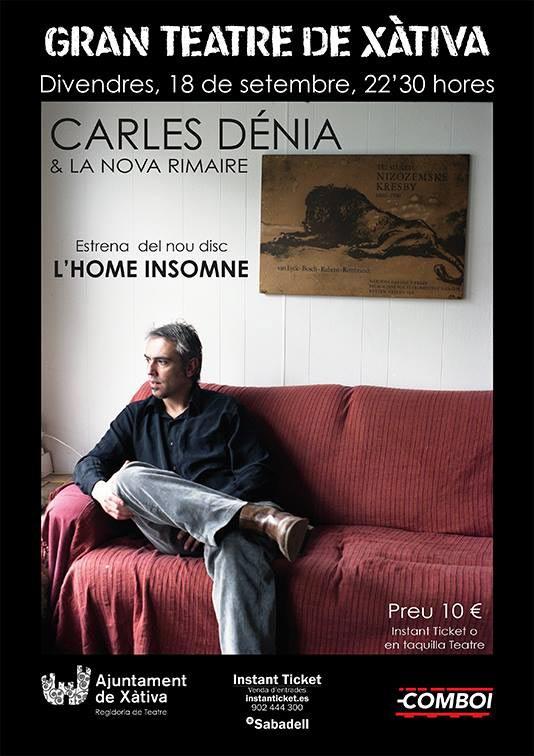 Carles Dénia estrena disc Xàtiva