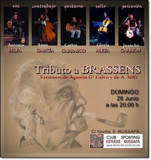 Antonio Selfa Brassens concierto Sporting Club Russafa
