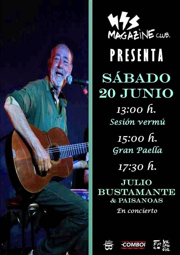 Julio Bustamante concierto Magazine Club