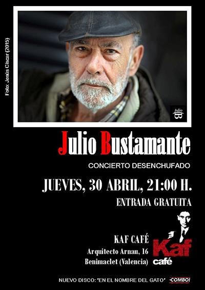 Julio Bustamante concierto desenchufado Kaf Café