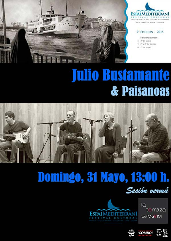 Julio Bustamante concert Espai Mediterrani